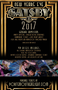 Great Gatsby New Year's celebration promotion
